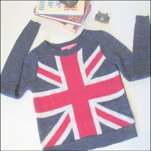 Union Jack (sorta) Acrylic Sweater XS